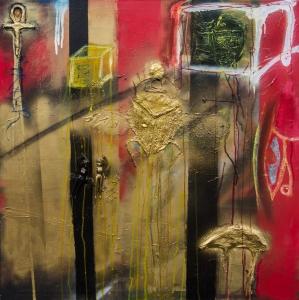 Egyptian Death Mixed Media on Art Wilhelm Vincent