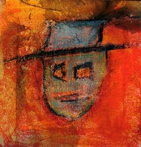 Toemaar die Donker Man II (Dedicated to S.H) Mixed Media on Canvas 15x15cm Sold